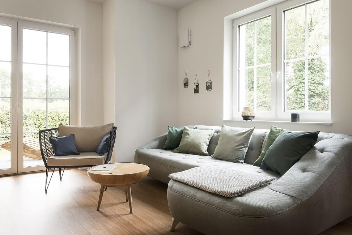 Ferienwohnung Wohnzimmer mit Schlafsofa